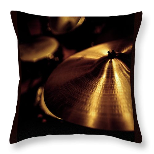 Music Throw Pillow featuring the photograph Cymbals by Thepalmer