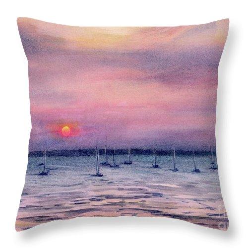 Darwin Australia Sunset Painting Throw Pillow For Sale By Chris Hobel