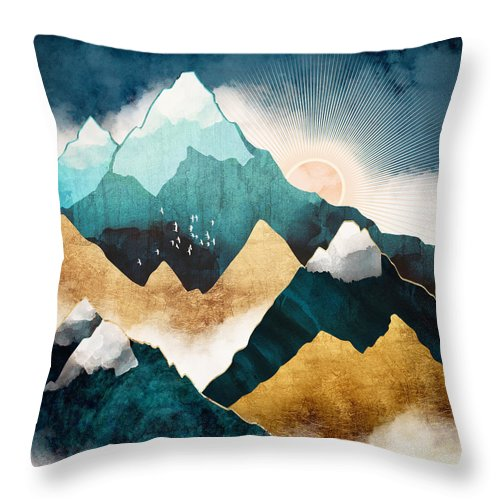 Digital Throw Pillow featuring the digital art Daybreak by Spacefrog Designs