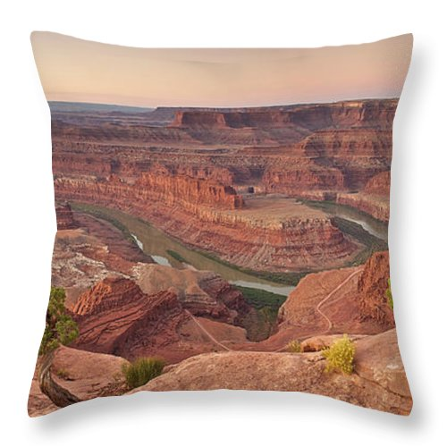 Scenics Throw Pillow featuring the photograph Dead Horse Point State Park, Utah by Enrique R. Aguirre Aves