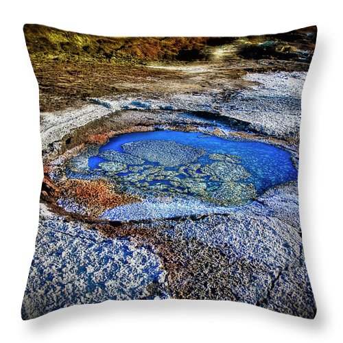Tranquility Throw Pillow featuring the photograph Dead Sea Sink Holes by Photostock-israel