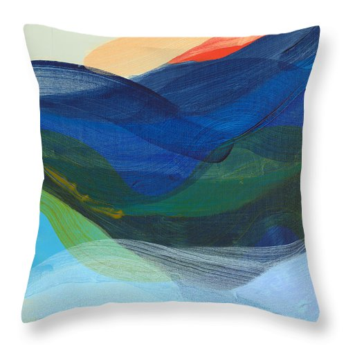 Abstract Throw Pillow featuring the painting Deep Sleep Undone by Claire Desjardins