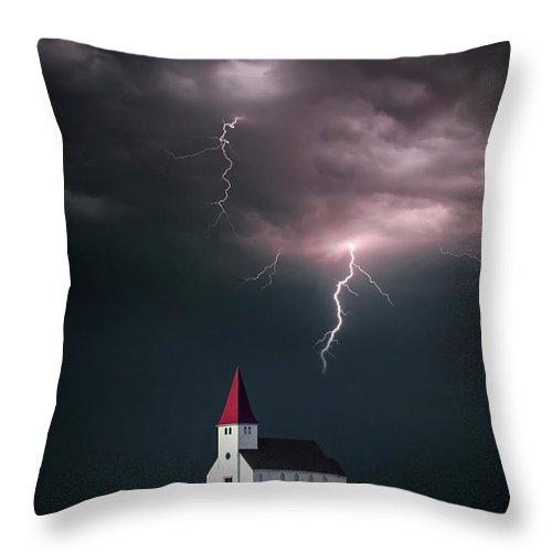 Kremsdorf Throw Pillow featuring the photograph Demons Dance by Evelina Kremsdorf