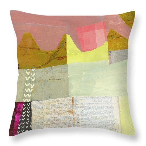 Abstract Art Throw Pillow featuring the painting Desert Dream #6 by Jane Davies