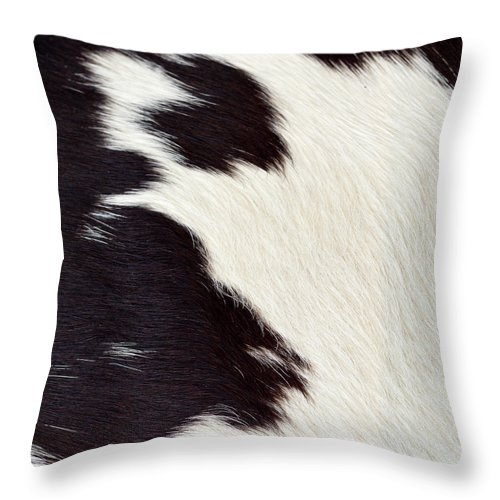 Animal Skin Throw Pillow featuring the photograph Designer Fur by Digiclicks