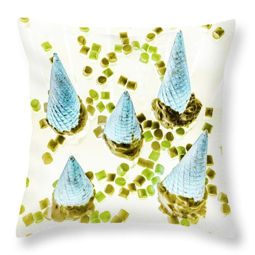 Ice-cream Throw Pillow featuring the photograph Desserted by Jorgo Photography - Wall Art Gallery