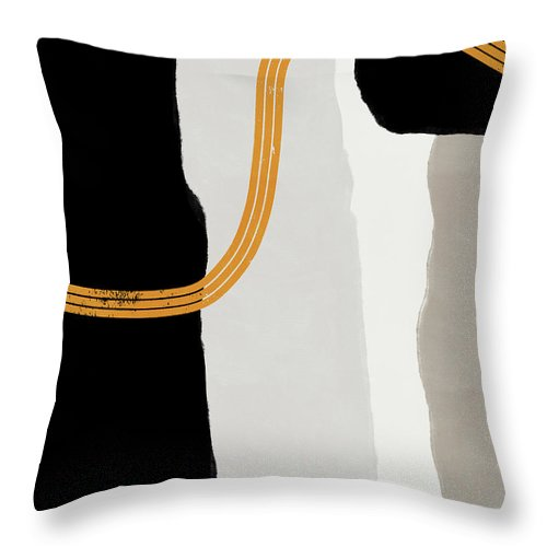 Modern Throw Pillow featuring the mixed media Destination 6- Art by Linda Woods by Linda Woods