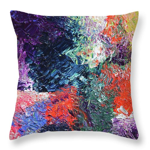 Fusionart Throw Pillow featuring the painting Dia De Los Muertos by Ralph White