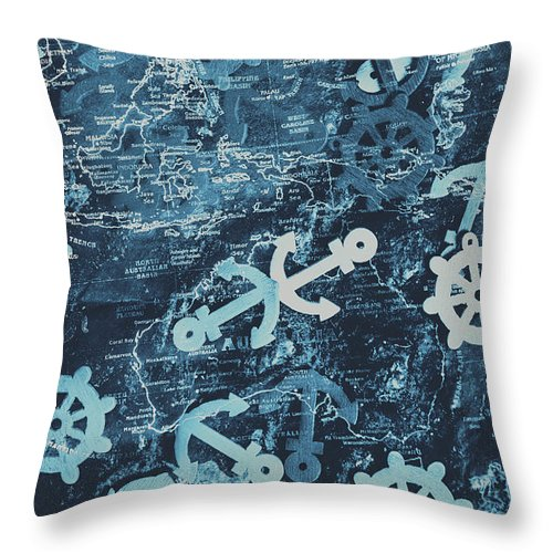Maritime Throw Pillow featuring the photograph Docks And Ports by Jorgo Photography - Wall Art Gallery