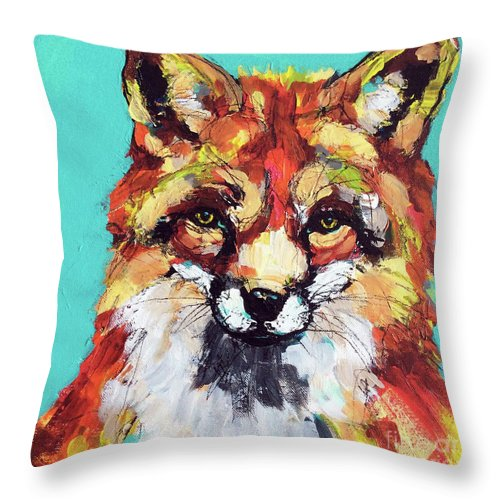 Fox Throw Pillow featuring the painting Don't Judge Me by Jeanette House