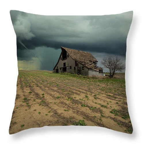 Tornado Throw Pillow featuring the photograph Doomsday by Aaron J Groen