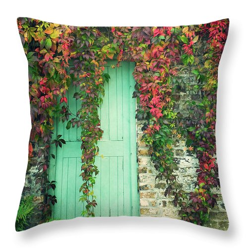 Tranquility Throw Pillow featuring the photograph Door To The Secret Garden by Image By Catherine Macbride