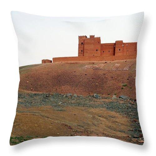 Ksar Throw Pillow featuring the photograph Draa Valley Casbah by Robertogennaro