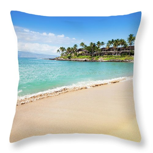 Lahaina Throw Pillow featuring the photograph Dream Beach Napili Bay Maui Hawaii by Mlenny