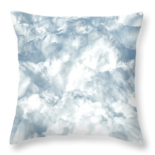 Heap Throw Pillow featuring the photograph Drifted Snow by Lyn Holly Coorg