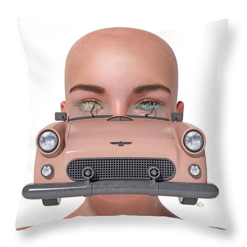 Surreal Throw Pillow featuring the digital art Driven by Betsy Knapp