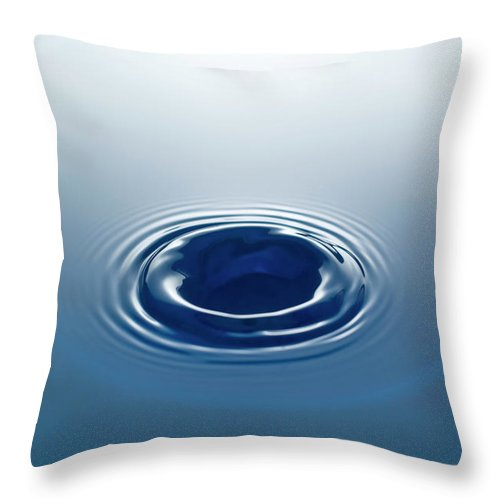 Motion Throw Pillow featuring the photograph Drop by Stockcam