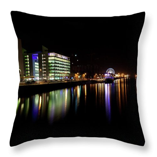 Dublin Throw Pillow featuring the photograph Dublin City Along Quays by Image By Daniel King