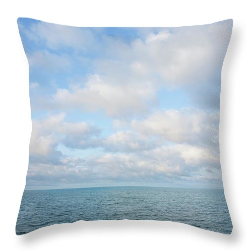 Tranquility Throw Pillow featuring the photograph Early Morning, Nantucket Sound by Nine Ok