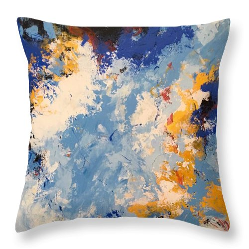 Acrylic Abstract Art Painting Throw Pillow featuring the painting Early Morning by Suzzanna Frank