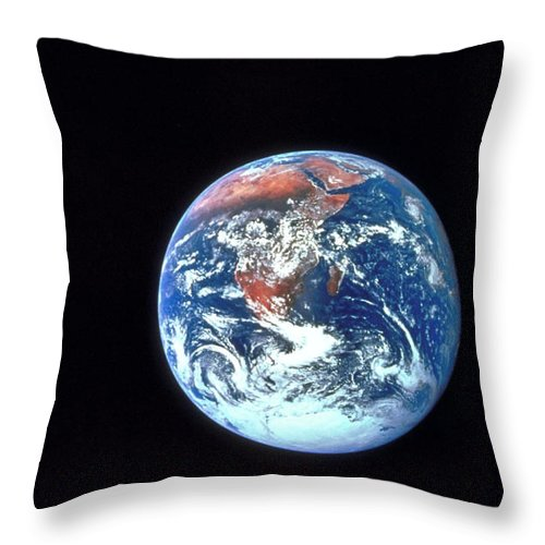 Globe Throw Pillow featuring the photograph Earth From Outer Space by Ablestock.com