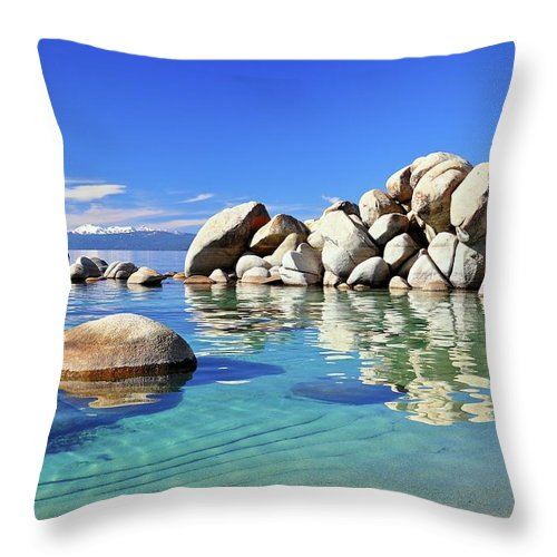 Tranquility Throw Pillow featuring the photograph East Shore, Lake Tahoe, Nv by Stevedunleavy.com