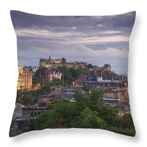 Lothian Throw Pillow featuring the photograph Edinburgh At Dusk by Northlightimages