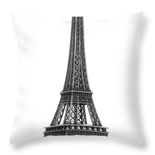 Architectural Model Throw Pillow featuring the photograph Eiffel Tower by Jamesmcq24
