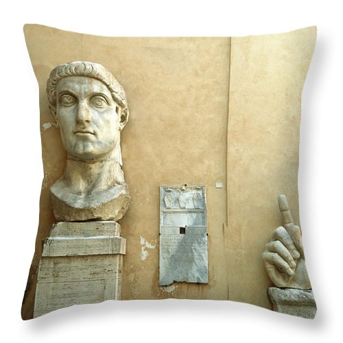 Statue Throw Pillow featuring the photograph Emperor Constantine by Manuelvelasco
