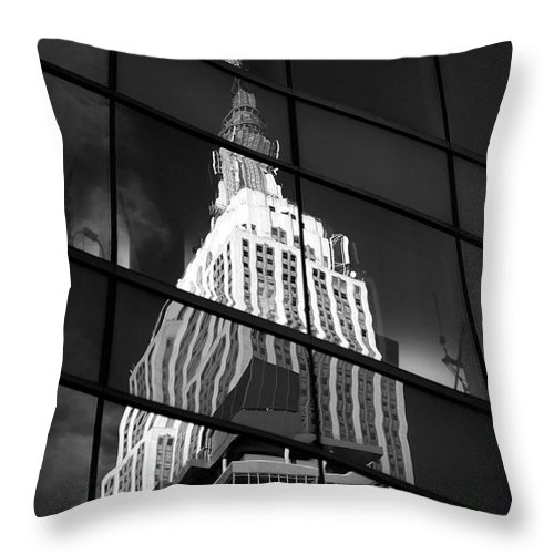 Empire State Building Throw Pillow featuring the photograph Empire State Building by Tony Cordoza