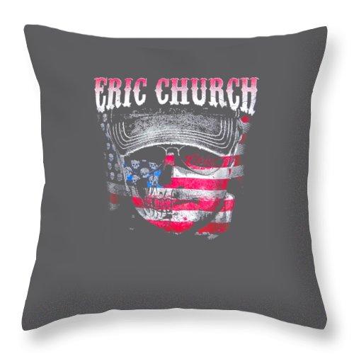 girls' Novelty T-shirts Throw Pillow featuring the digital art Erics T-shirt Churchs by Do David