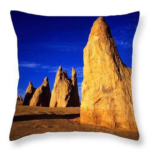Toughness Throw Pillow featuring the photograph Eroded Rock Formations, Pinnacles by John Banagan