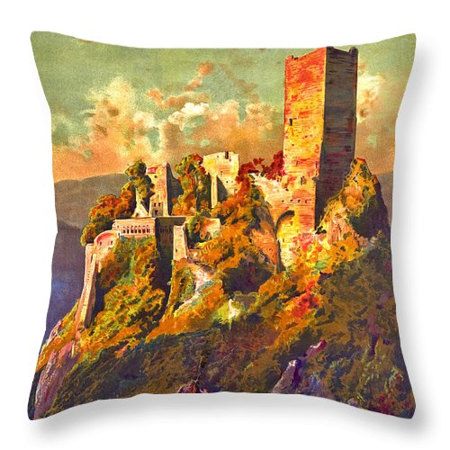 Excursions Throw Pillow featuring the digital art Excursions To Alsace by Long Shot