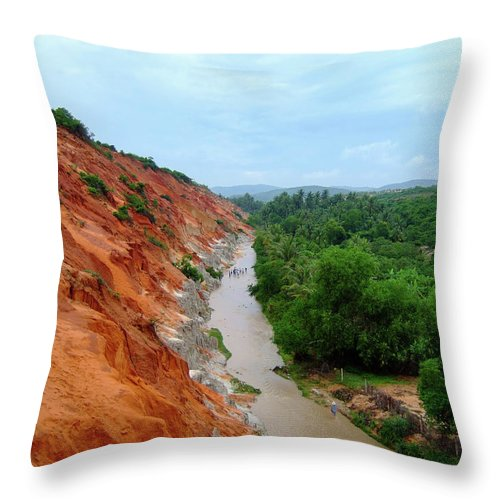 Tranquility Throw Pillow featuring the photograph Fairy Springs In Mui Ne by Thomas Davis