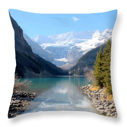 Tranquility Throw Pillow featuring the photograph Fall At Lake Louise , Alberta, Canada by Cynthia Russell Photography