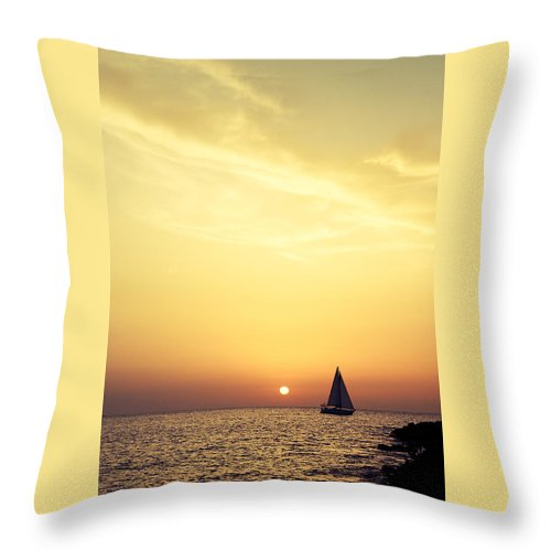 Fantastic Sunset Cafe Del Mar Throw Pillow For Sale By Kertlis