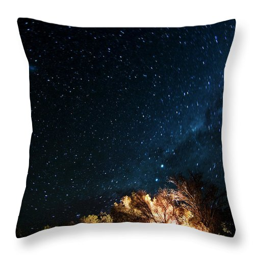 Northern Cape Province Throw Pillow featuring the photograph Farm House And Milky Way by Subman