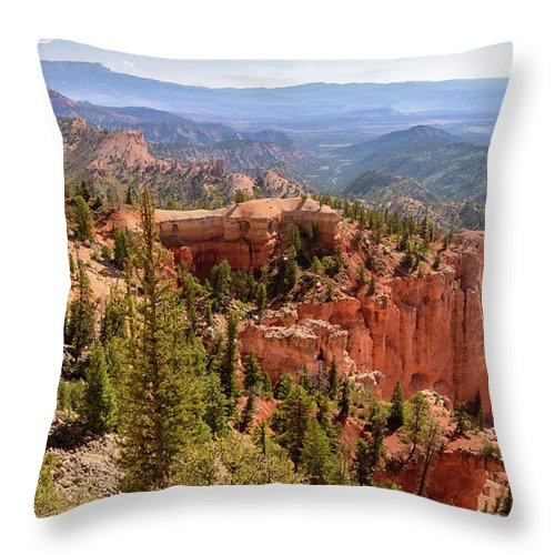 Farview Point Throw Pillow featuring the photograph Farview Point - Bryce Canyon - Utah by Debra Martz