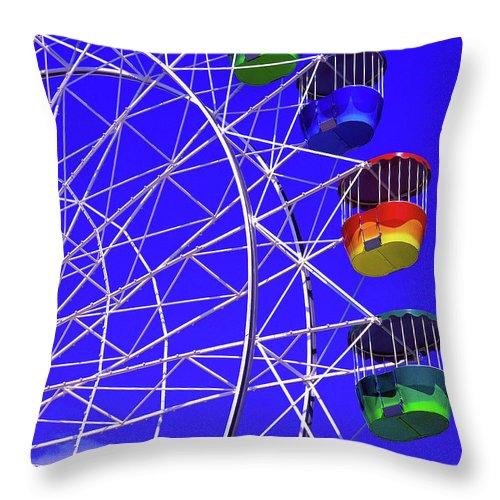 Outdoors Throw Pillow featuring the photograph Ferris Wheel, Sydney, Australia by Hans-peter Merten