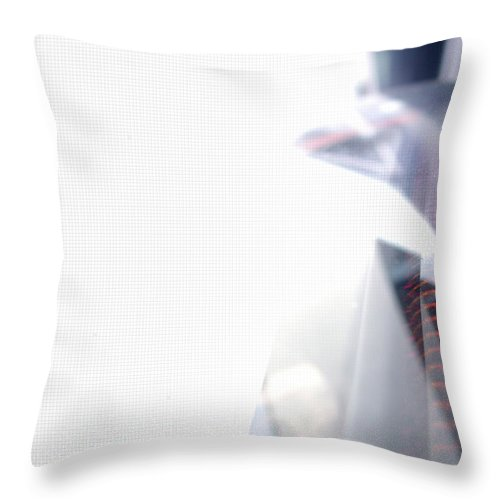 Internet Throw Pillow featuring the photograph File Transfer 2 by Dansin