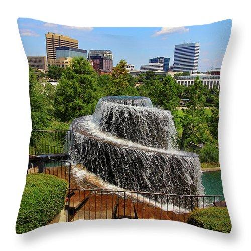 Columbia South Carolina Throw Pillow featuring the photograph Finlay Park Columbia South Carolina by Joseph C Hinson Photography