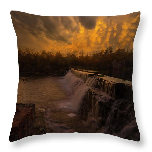 Fire Ky Throw Pillow featuring the photograph Fire And Water by Aaron J Groen