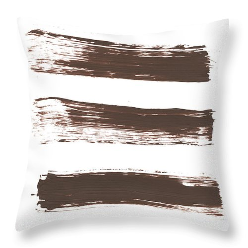 Textured Throw Pillow featuring the photograph Five Tan Streaks Of Paint by Kevinruss