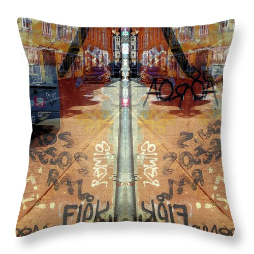 Fine Art Throw Pillow featuring the digital art FLeK by Ole Klintebaek