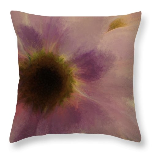 Flowers Throw Pillow featuring the digital art Floral Impressions Lix by Tina Baxter