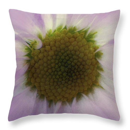 Flowers Throw Pillow featuring the digital art Floral Impressions Lv by Tina Baxter