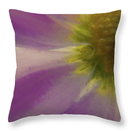 Flowers Throw Pillow featuring the digital art Floral Impressions Lviii by Tina Baxter