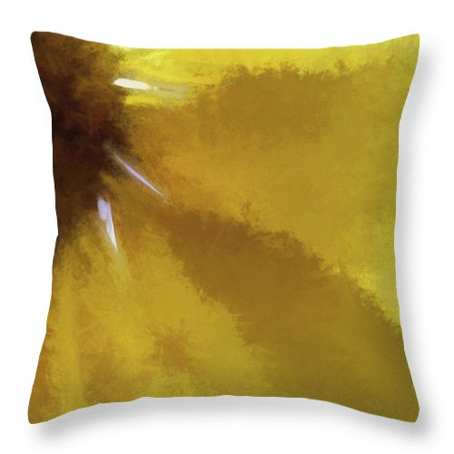 Flowers Throw Pillow featuring the digital art Floral Impressions Lxi by Tina Baxter