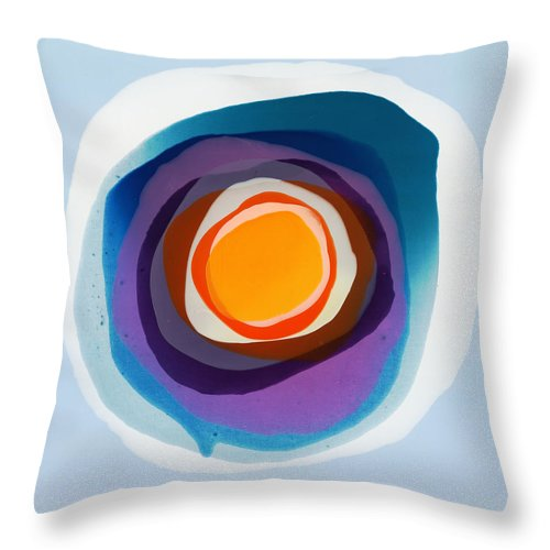 Abstract Throw Pillow featuring the painting Focussed by Claire Desjardins
