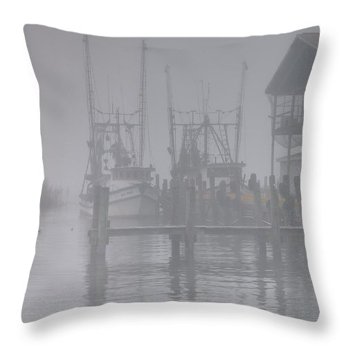 Florida Throw Pillow featuring the photograph Fogged In by Bill Chambers